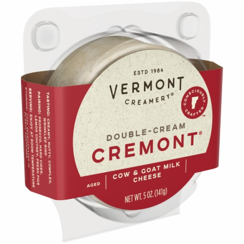 Vermont Creamery Double Cream Aged Goat & Cow Milk Cremont Perspective: left