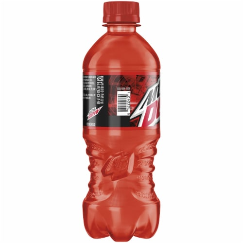 Mountain Dew Code Red Soda 20 oz Perspective: left