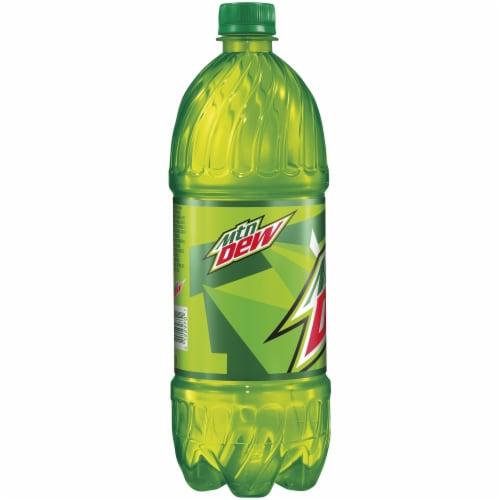 Mountain Dew Citrus Soda 1 Liter Bottle Perspective: left