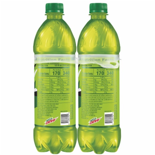 Mountain Dew Soda 6 Pack Bottles Perspective: left