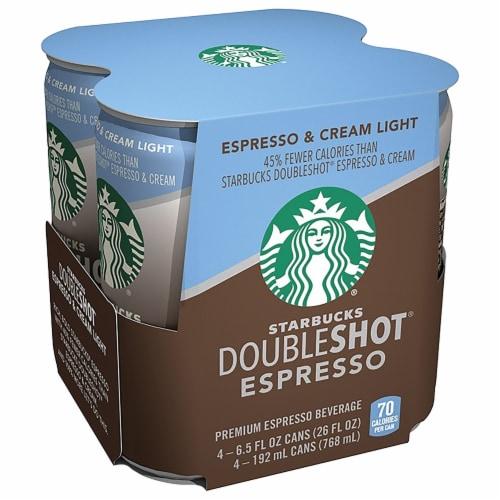 Starbucks Doubleshot Energy Drink Espresso & Cream Light Espresso Iced Coffee Perspective: left