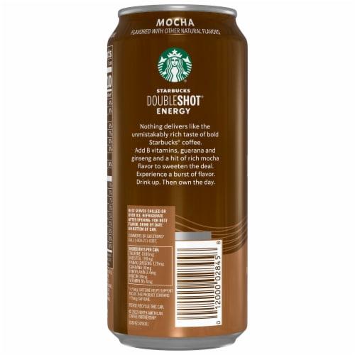 Starbucks Doubleshot Energy Mocha Energy Coffee Beverage Perspective: left
