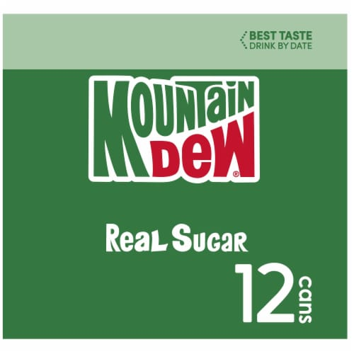 Mountain Dew Throwback Soda 12 Pack Perspective: left