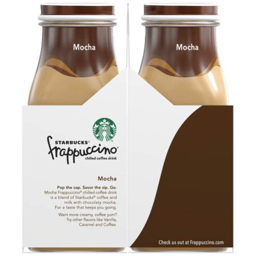 Starbucks Frappuccino Mocha Iced Coffee Drink Perspective: left