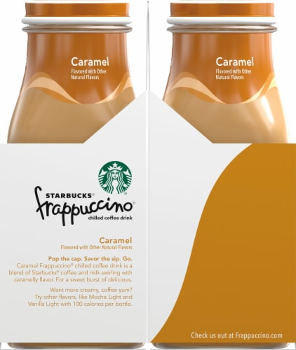 Starbucks Frappuccino Caramel Iced Coffee Drink Perspective: left