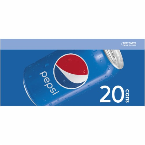 Pepsi Cola Soda 20 Pack Perspective: left