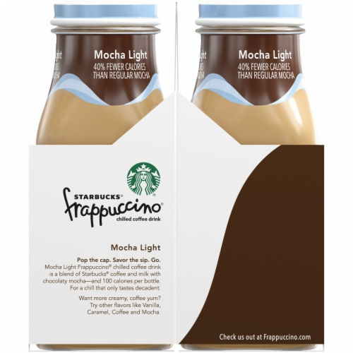 Starbucks Frappuccino Mocha Light Iced Coffee Drink Perspective: left