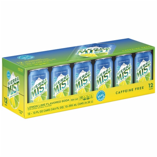 Sierra Mist Lemon Lime Caffeine Free Soda 12 Pack Perspective: left
