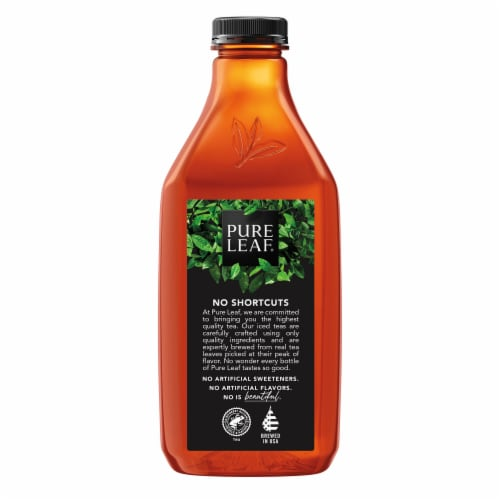 Pure Leaf Raspberry Brewed Iced Tea Bottle Perspective: left