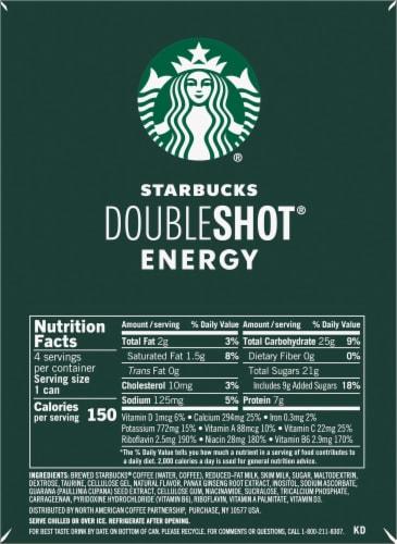 Starbucks DoubleShot Vanilla Energy Coffee Beverage Perspective: left