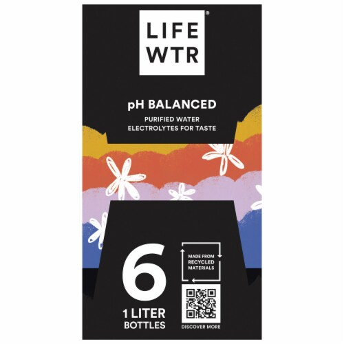 LIFEWTR with Electrolytes Purified Life Water Perspective: left
