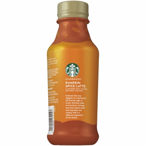Starbucks Pumpkin Spice Latte Iced Coffee Espresso Beverage Perspective: left
