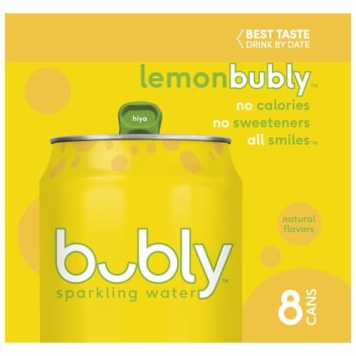 bubly Sparkling Water Lemon 8 Pack Perspective: left