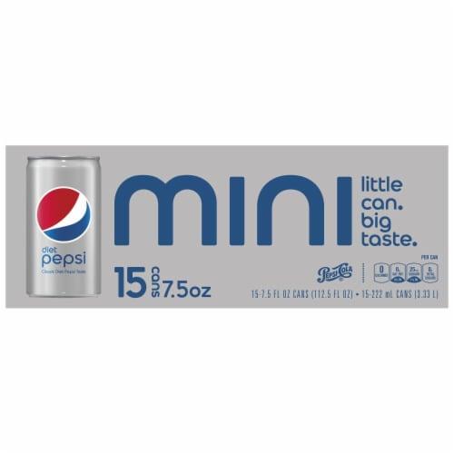 Diet Pepsi Mini Soda Perspective: left