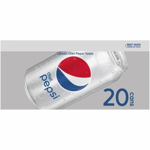 Diet Pepsi Cola Soda Perspective: left