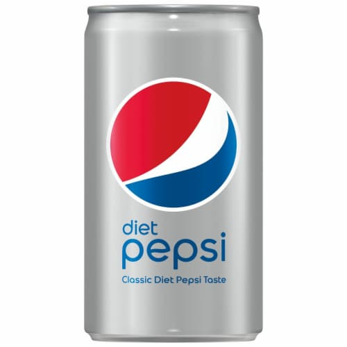Diet Pepsi Cola Soda Mini Can Perspective: left