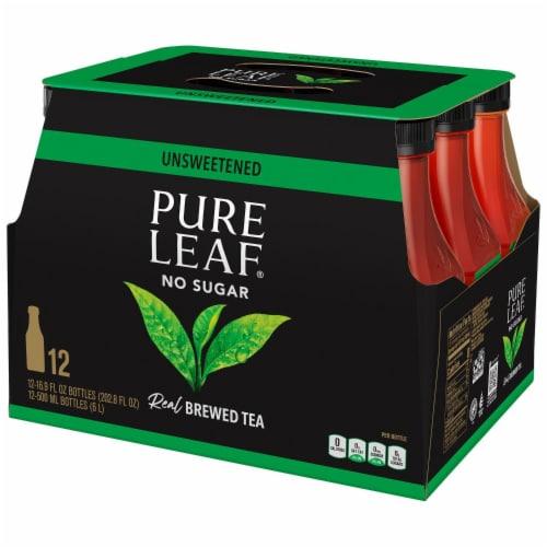 Pure Leaf Unsweetened Black Tea Perspective: left