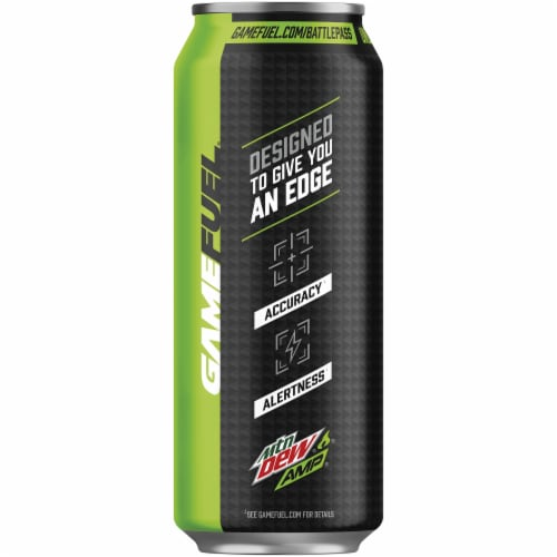 Mountain Dew Game Fuel Charged Original Dew Energy Drink Perspective: left