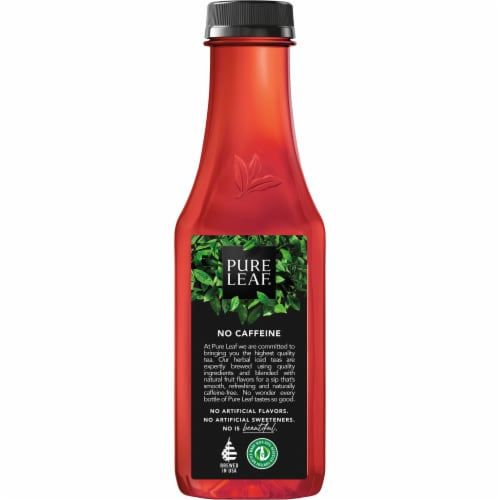 Pure Leaf Peach Hibiscus Herbal Brewed Iced Tea Perspective: left