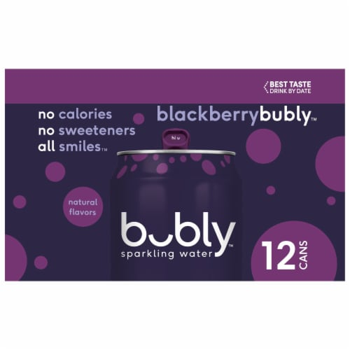 bubly Blackberry Sparkling Water Perspective: left