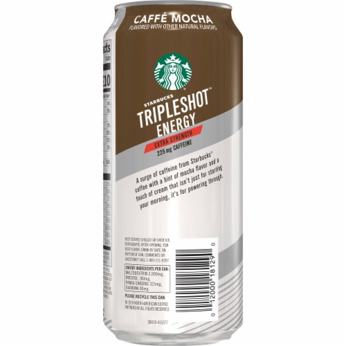 Starbucks TripleShot Caffe Mocha Extra Strength Energy Coffee Beverage Perspective: left