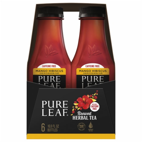 Pure Leaf Mango Hibiscus Brewed Herbal Tea Perspective: left