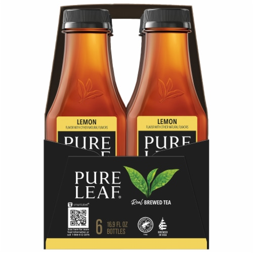 Pure Leaf Sweetened with Lemon Brewed Iced Tea Perspective: left