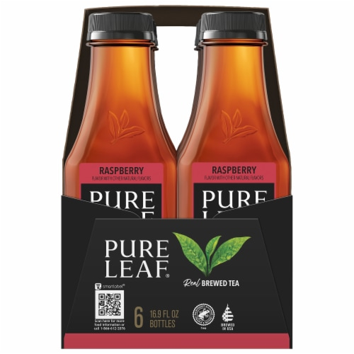 Pure Leaf Raspberry Brewed Iced Tea Perspective: left