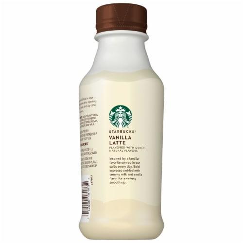 Starbucks Vanilla Latte Iced Coffee Espresso Beverage Perspective: left