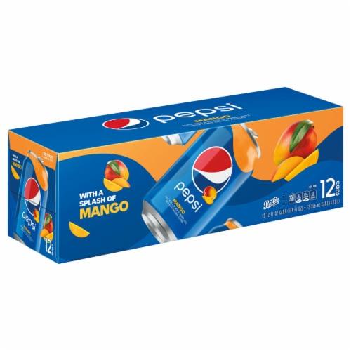 Pepsi Cola Splash of Mango Soda 12 Pack Perspective: left