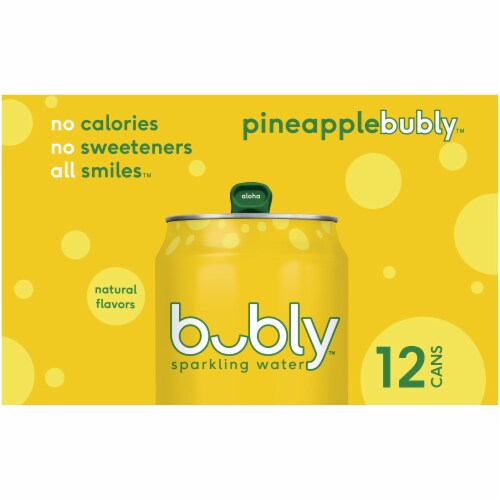bubly Pineapple Sparkling Water Perspective: left