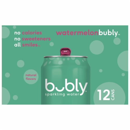 bubly Watermelon Sparkling Water Perspective: left