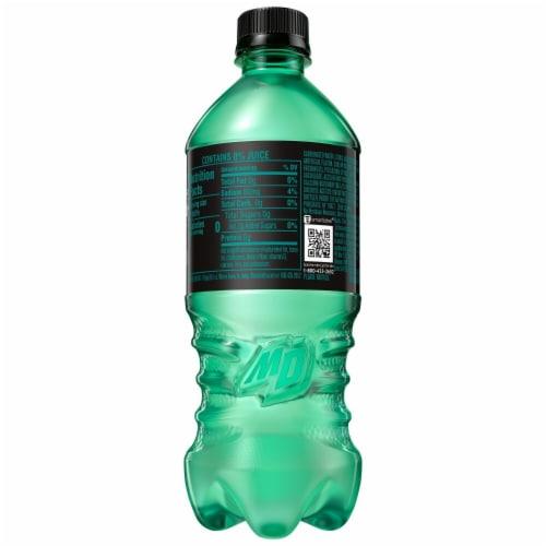 Mountain Dew Zero Sugar Baja Blast Soda Perspective: left