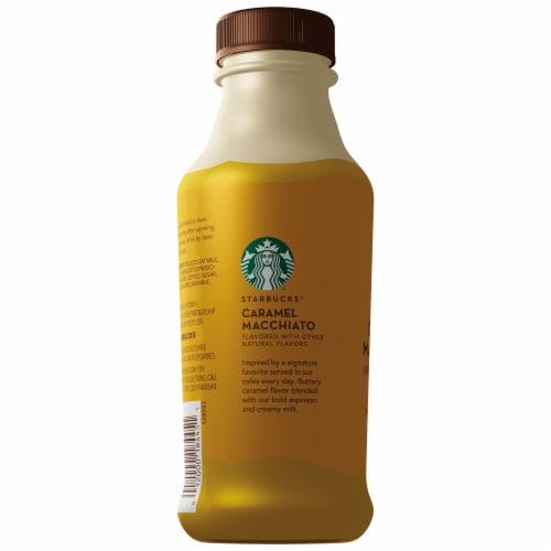 Starbucks Caramel Macchiato Latte Iced Coffee Espresso Beverage Perspective: left