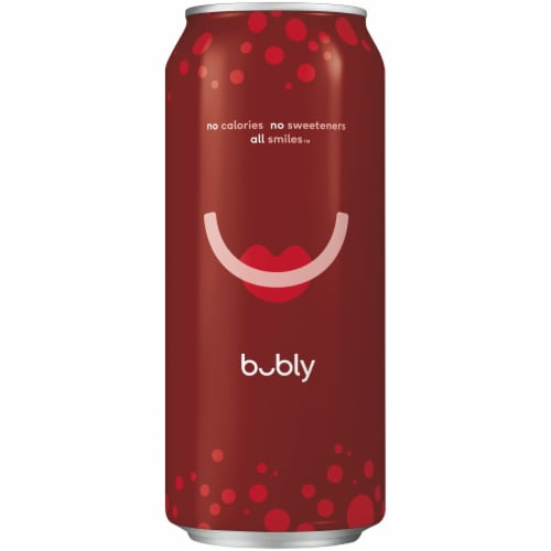 bubly Cherry Sparkling Water Perspective: left