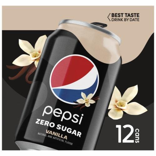 Pepsi Cola Zero Sugar Vanilla Soda Perspective: left