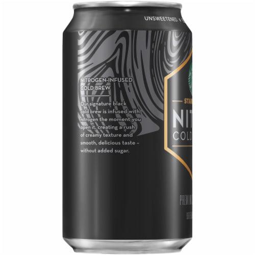 Starbucks Nitro Cold Brew Black Unsweetened Premium Iced Coffee Drink Perspective: left