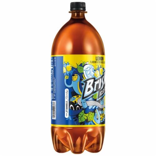 Lipton Brisk Lemon Iced Tea 2 Liter Bottle Perspective: left