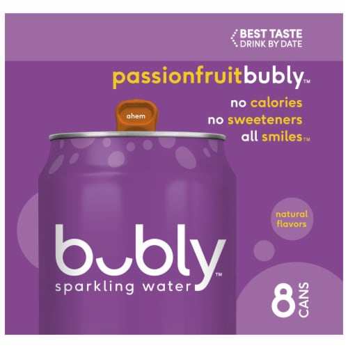 bubly Passionfruit Sparkling Water Perspective: left