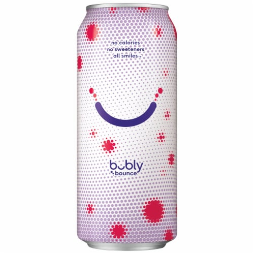 bubly bounce Triple Berry Caffeinated Sparkling Water Perspective: left