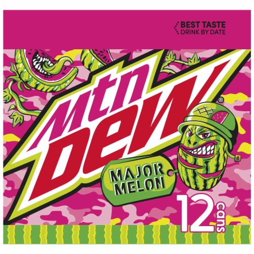 Mountain Dew Major Melon Soda Perspective: left