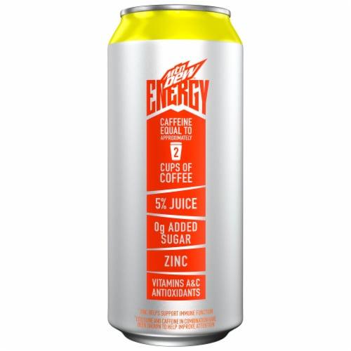 Mountain Dew Rise Orange Breeze Energy Drink Perspective: left