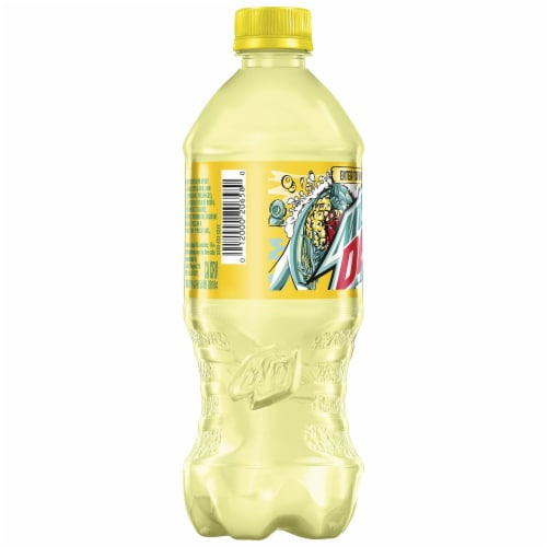 Mountain Dew Baja Flash Pineapple Coconut Flavored Soda Perspective: left