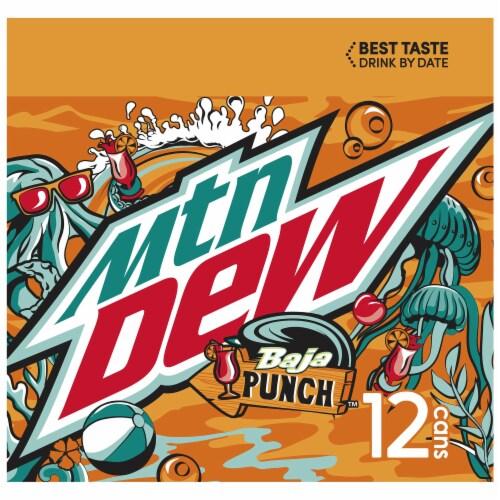 Mountain Dew Baja Punch Soda Perspective: left
