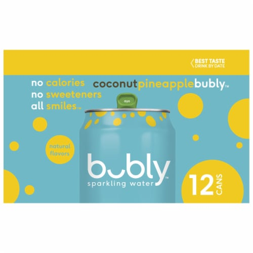 Bubly Coconut Pineapple Sparkling Water Perspective: left