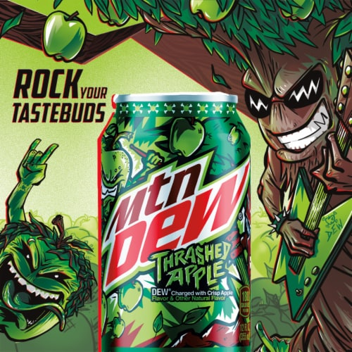 Mountain Dew® Thrashed Apple Soda - Exclusive Item! Perspective: left