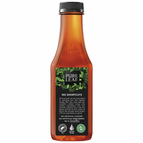 Pure Leaf Peach Brewed Iced Tea Bottle Perspective: left