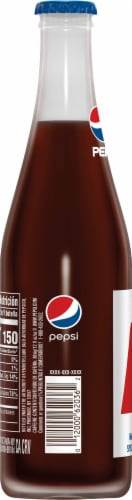 Mexican Pepsi Cola Soda Glass Bottle Perspective: left