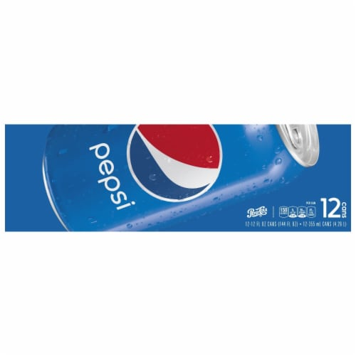 Pepsi Cola Soda 12 Pack Perspective: left