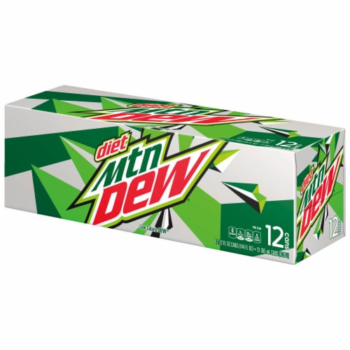 Diet Mountain Dew Soda Perspective: left